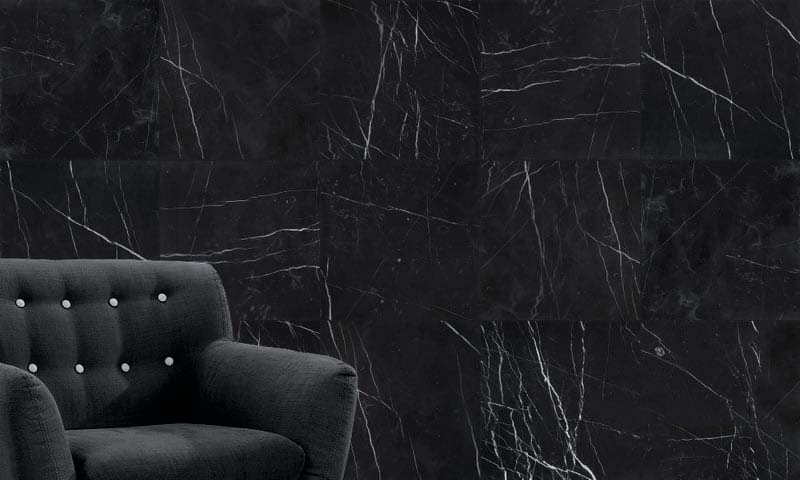 Nero Marquina Polished Porcelain Backed