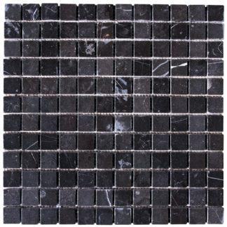 Nero Marble Tumbled Mosaic Tiles