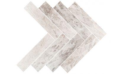 Silver Sky Marble herringbone-tile