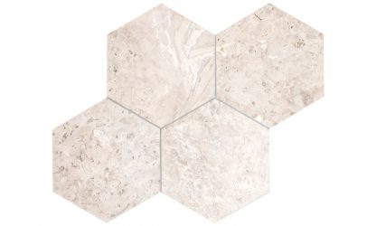 Silver Sky Marble hexagon-tile