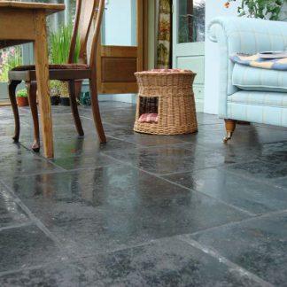 Black Flagstone Large pattern