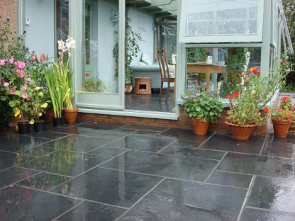 Black Flagstone Large pattern