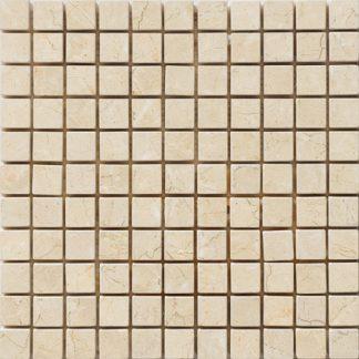 Creme Almeira Tumbled Mosaic Tiles