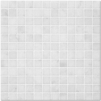 White Sugar Marble Tumbled Mosaic Tiles