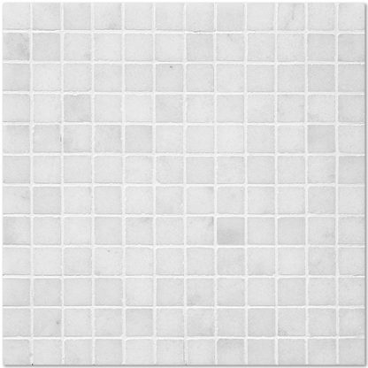 White Sugar Marble Tumbled Mosaic Tiles