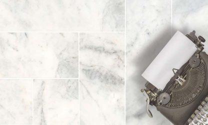 Mont Blanc herringbone Style marble tiles