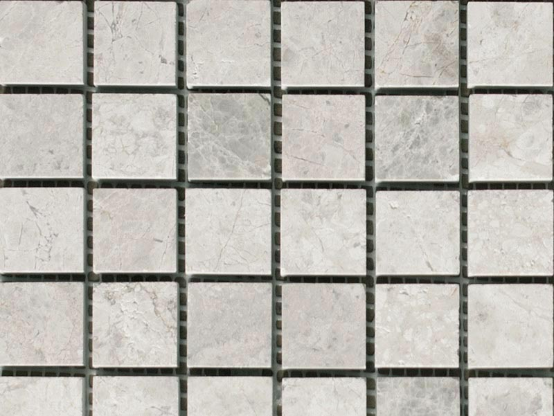 Silver Grey Polished Mosaic Tiles