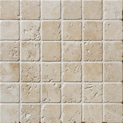 Travertine Tumbled Mosaic Tiles
