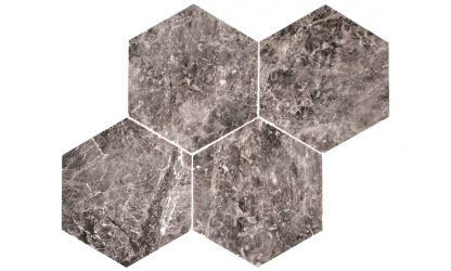 Tundra Marble hexagon-tile