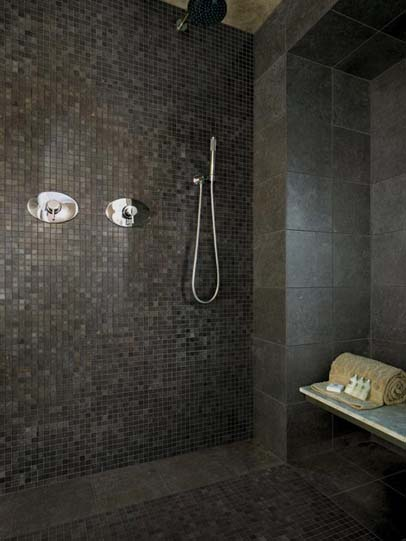 Fossil Grey Polished Tiles London