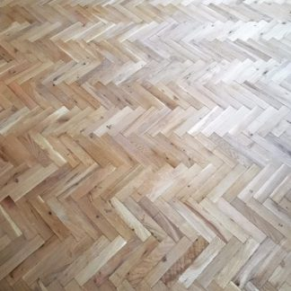 Aged Rustic Unfinished Oak Parquet