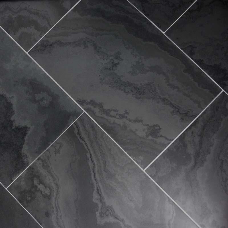 Black Brazilian Slate Honed London Floors Direct