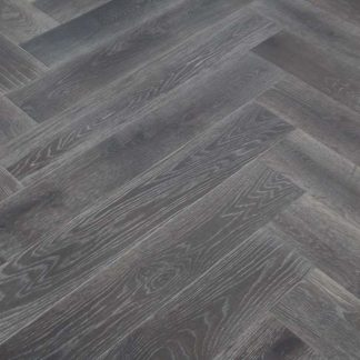 Smoked Brushed Grey Oiled Oak 900 x 150 x 14/3mm