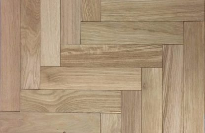Prime Unfinished Oak Herringbone 500 x 100 x 20/6mm London