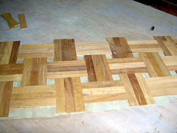 Unfinished Oak Parquet Blocks 230 x 70 x 10mm