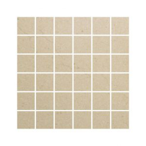 Crema Marfil Polished Porcelain Mosaics 30 x 30 London Floors Direct