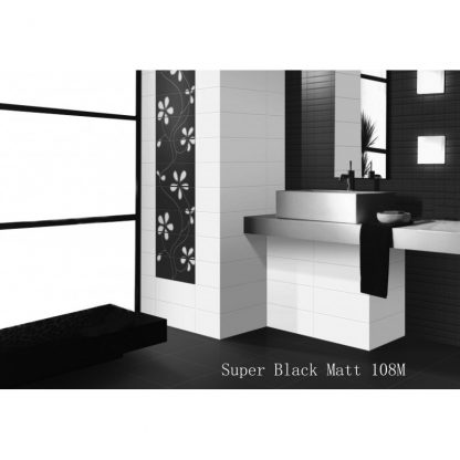 Super Black Matt Porcelain London Floors Direct