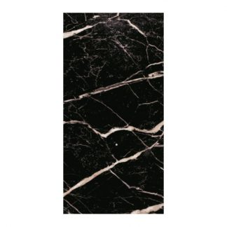 Nero Marquina Polished Porcelain 60 x 60 London Floors Direct