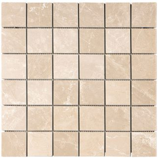 Creme Almeira Polished Mosaic Tiles