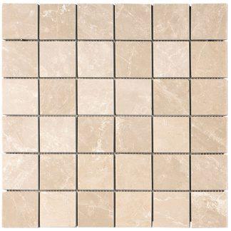 Creme Almeira Polished Mosaic Tiles