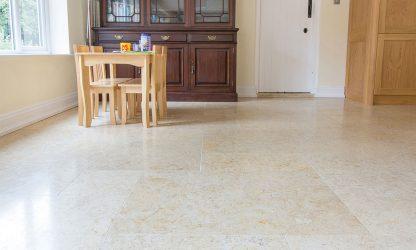 Jerusalem-fossil limestone floor