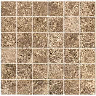 Light Emperador Polished Mosaic Tiles