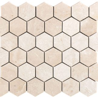 Marmo Cotto Hexagon Honed Mosaic Tiles