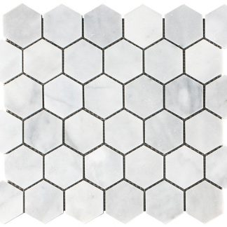 Mont Blanc Hexagon Honed Mosaic Tiles