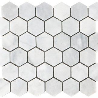 Mont Blanc Hexagon Honed Mosaic Tiles