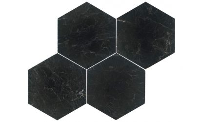 Nero Antalya Marble Hexagon-tile