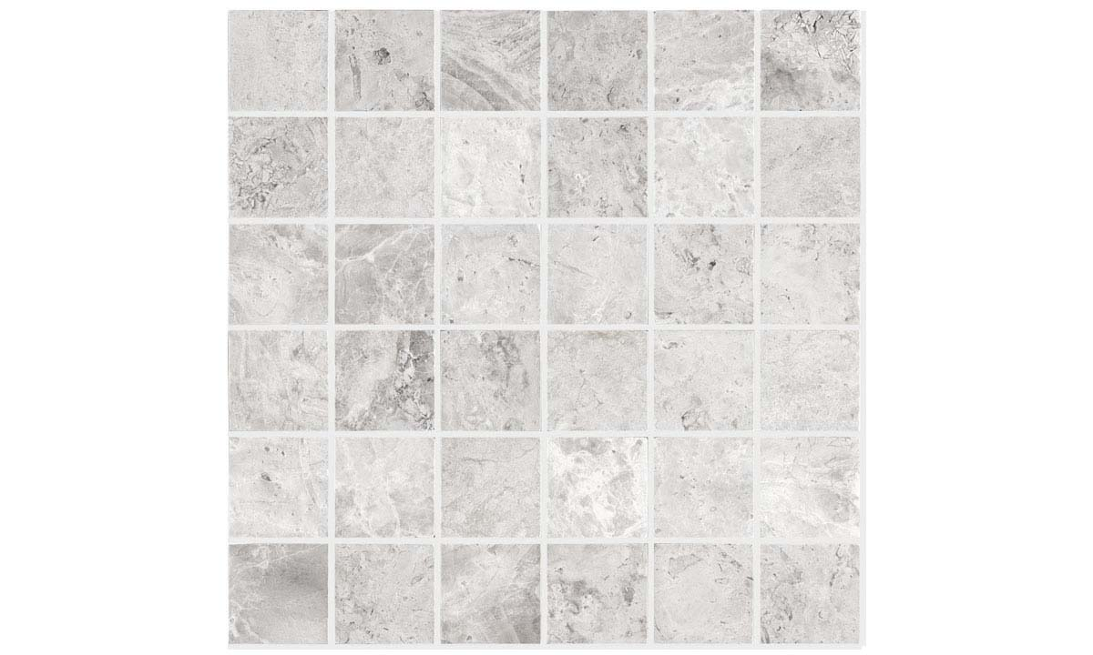 Silver Sky Polished Mosaic Tiles
