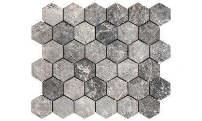 Tundra Hexagon Polished Mosaic Tiles