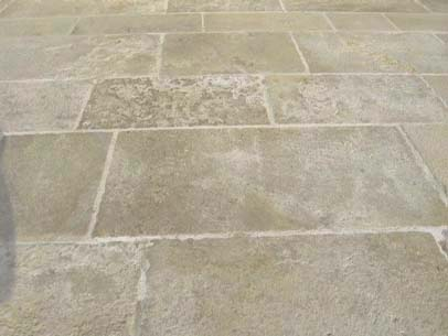 Amleto Aged Distressed edge Limestone flooring London