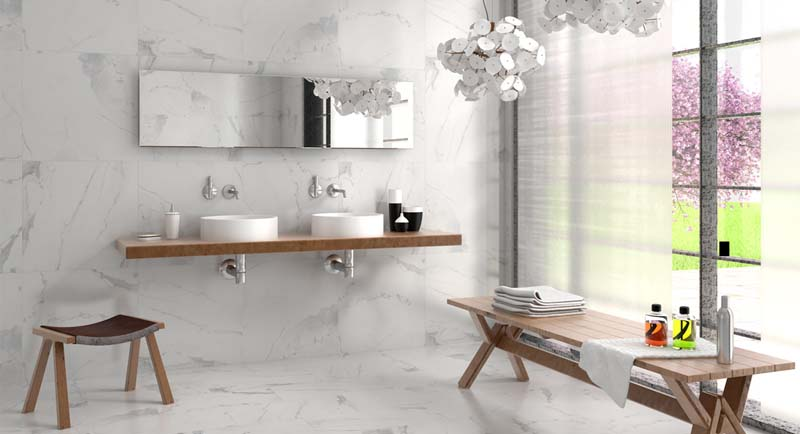 Calacatta S Polished Porcelain room