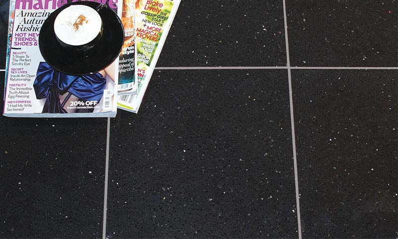 Black Galaxy Quartzstone Polished - London Floors Direct