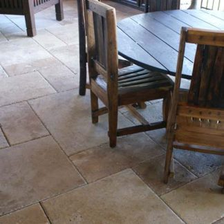 Brushed Distressed Edge Travertine Opus Pattern