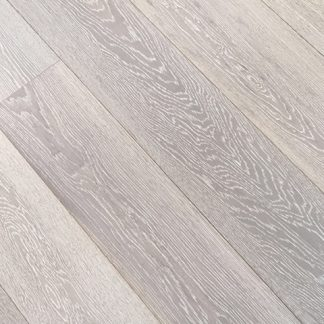 Brushed white lacquered oak click
