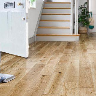 Solid European Rustic Oak Flooring 18mm X 150mm Natural Lacquered