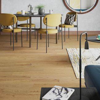 Solid Nature Oak Flooring 18mm x 150mm Natural Brushed & Oiled